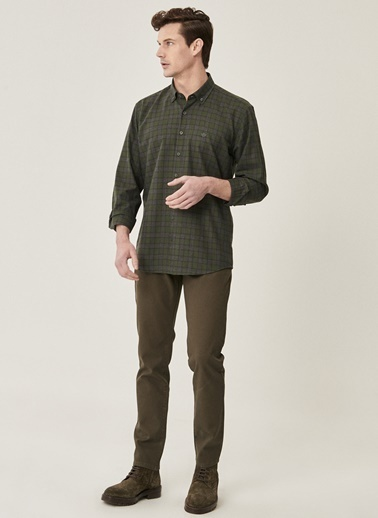 Beymen Business Slim Fit Pantolon 4B0121100025 Yeşil